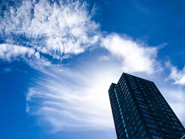 Low Angle View Sky Architecture Built Structure Building Exterior Modern Day Blue Cloud - Sky Skyscraper Outdoors No People The Architect - 2017 EyeEm Awards The Great Outdoors - 2017 EyeEm Awards The Street Photographer - 2017 EyeEm Awards The Way Forward Sky Collection Skylovers EyeEmNewHere Getting Inspired The Week Of Eyeem Our Best Pics Abstract Nature Abstract Art Fine Art The Architect - 2017 EyeEm Awards