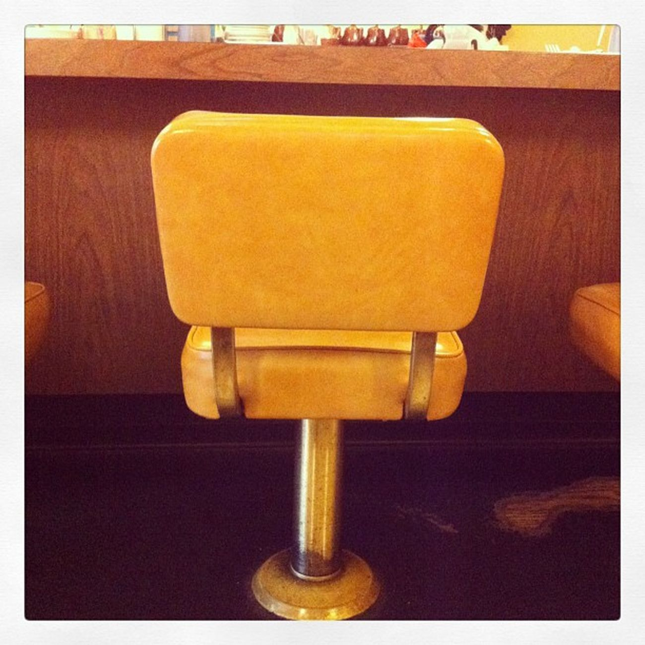 The lonely diner barstool #dinertour #homefortheholidays Dinertour Homefortheholidays