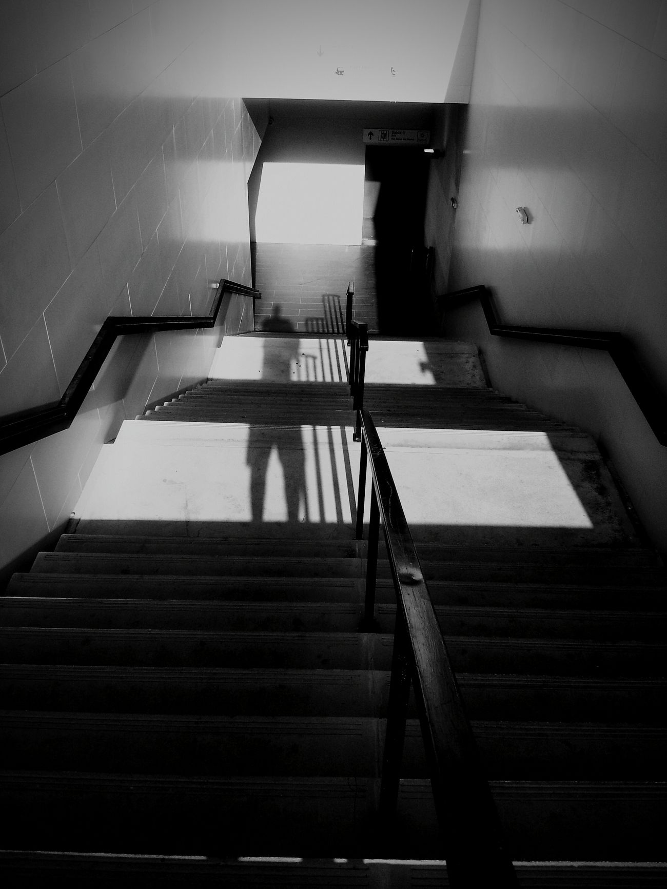 the downward stairs Blackandwhite Self Portrait Im In Heaven