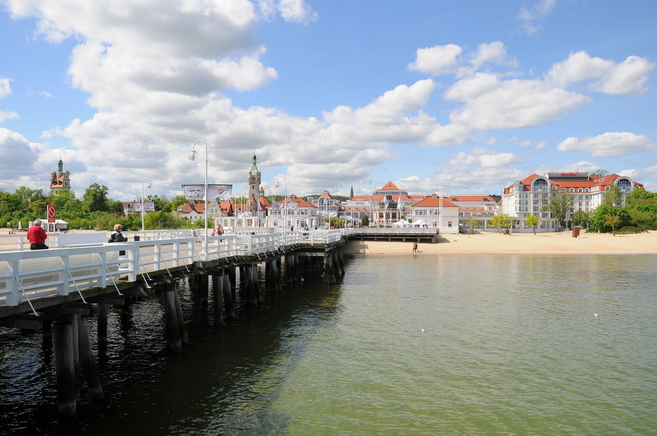 Pier and waterfront Architecture Bridge - Man Made Structure City Cityscape Cloud - Sky Day Landscape Nature Nautical Vessel No People Outdoors Pier Poland River Sky Sobotka Summer Urban Skyline Waterfront