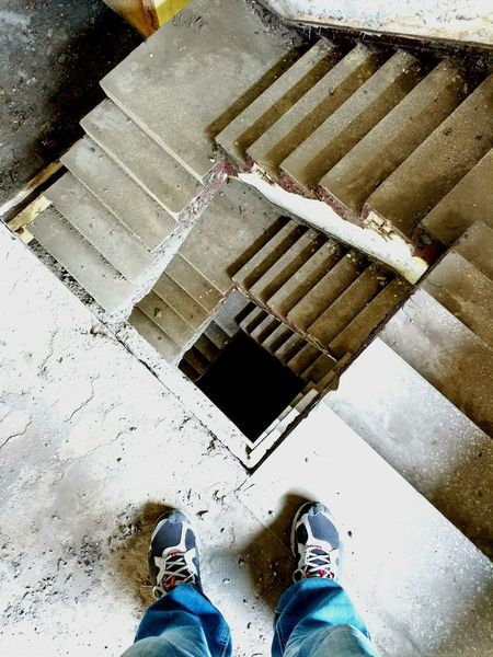 Abandoned Abandoned Places Abandon_seekers Abandoned Buildings Staircase Stairway Best Of Stairways Forgotten Forgotten Places  Legs Schoes Legs_only In To The Darkness Light And Shadow Creative Wasiak Moto X Play Walking Around Showcase April Destroyed Time EyeEm Best Shots Best Of EyeEm Old Buildings Showing Imperfection