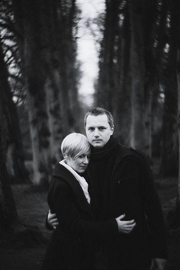 Couple Black & White Engagement