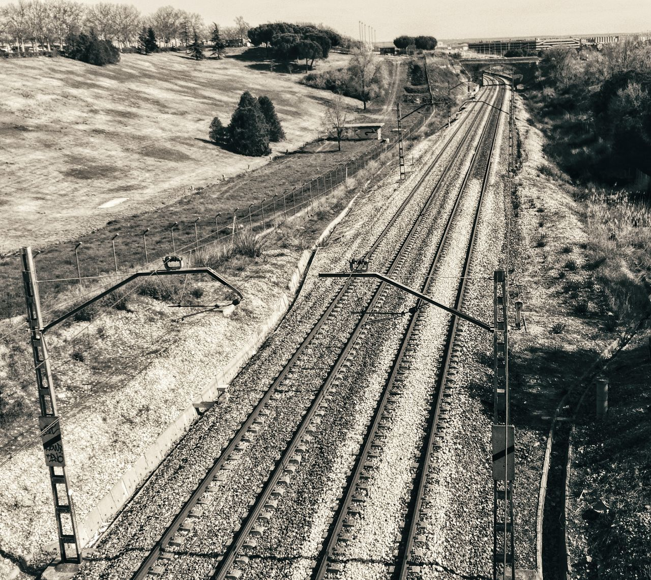 High Angle View Sunlight Nature Day Outdoors Landscape No People Beauty In Nature Madrid, Spain LGG4 Rails Trainrails