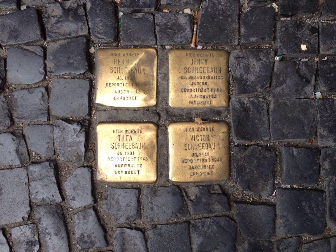 Capture Berlin Stolpersteine History No People Outdoors Memorial Memory Streetphotography Street