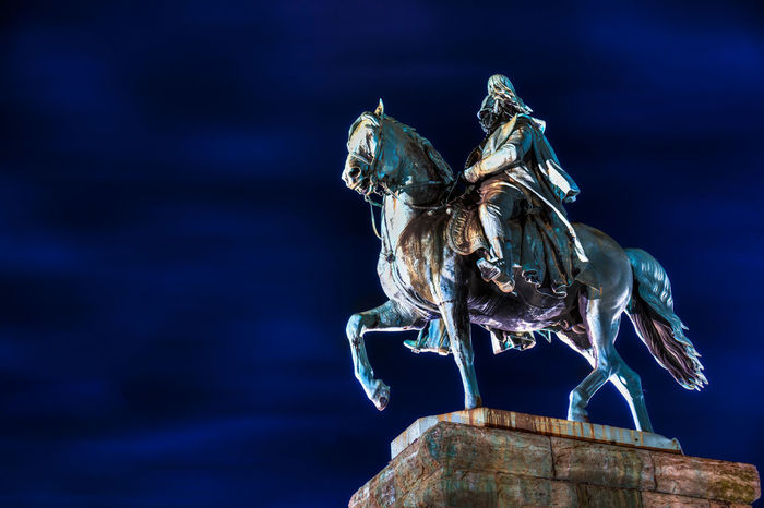 Cologne Force MILITANT Myth Podium Power Rock Winter Century Copper  Emperor Equestrian Germany History Horse Military Monument Night Noble Patina Protected Respected Season  Snow Wilhelm