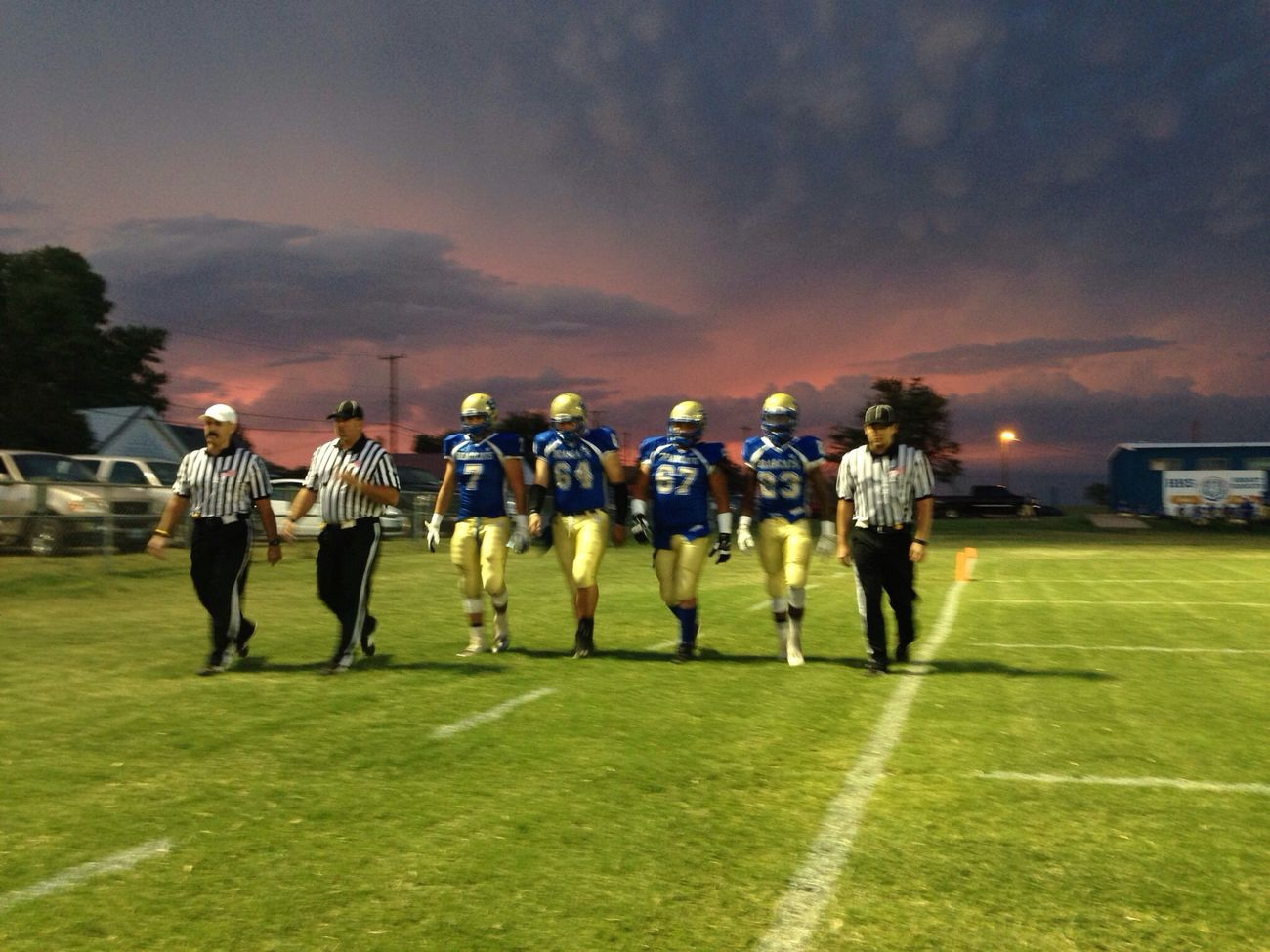 Football Under Them Friday Night Lights