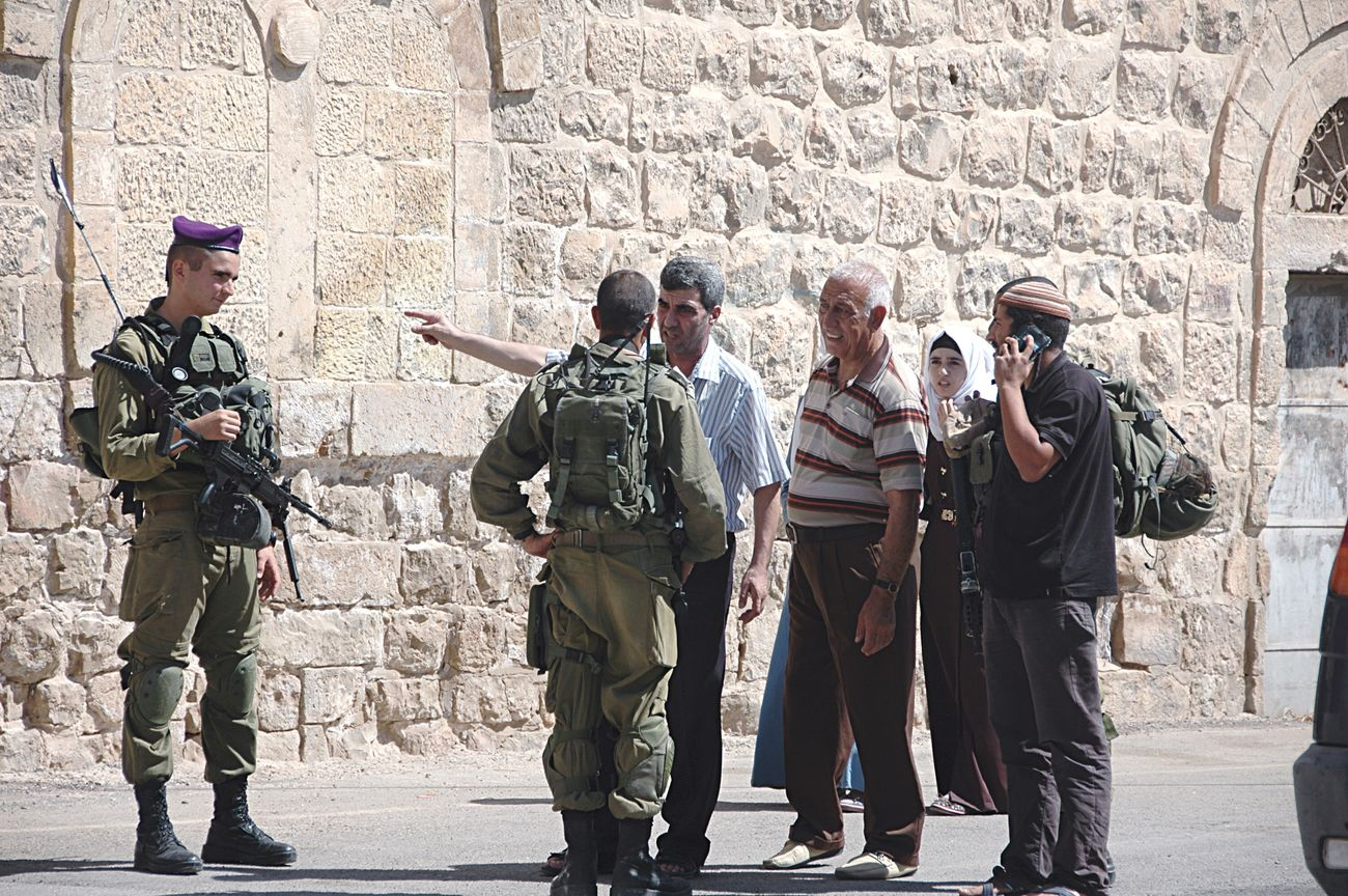 Untold Stories No Further --- when i vistede the City of Hebron, i passed a security checkpoint and i was glad to pass through but the people behind me wasnt so lucky they had to argue with the soldiers for 45 mins befor they could pass and kind of wondered whats was there story Hebron Palestine Palestinian Conflict Soldiers Idf Israel Defence Force