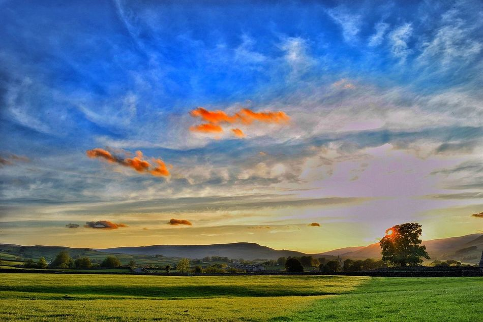 Haws in the Yorkshire dales Landscape Sky Field Sunset Yorkshire Yorkshire Dales