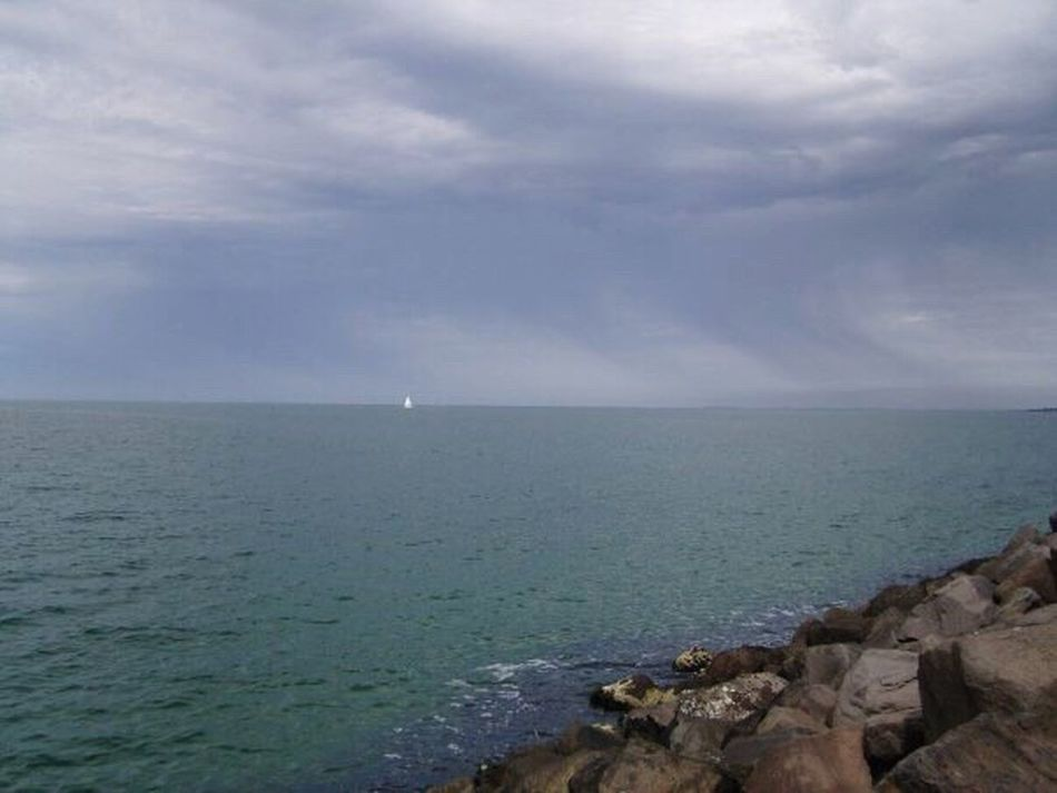 Looking Out To Sea. Horizon Over Water Boat On The Horizon Horizon Warm Sea Australia Travel Photography