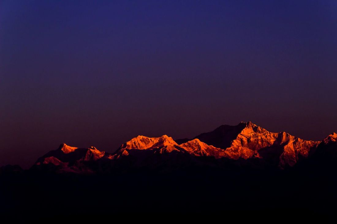 Kanchenjunga Sunlight Reflection Early Morning Sunrise Sunrise_Collection EyeEm Best Shots EyeEm Nature Lover EyeEm Gallery Winter_collection Tourist Destination Mountain View Mountain Peak Sunrise Colors Silouette & Sky Mountain Outdoors Landscape Nature Night Beauty In Nature Travel Destinations Scenics Sky No People