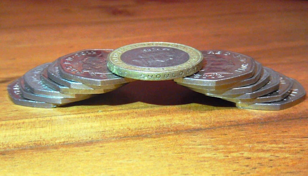 Table Indoors  Close-up Coin No People Day Coins Sterling Gbp Pound Currency Monetary Economy British Pound Money British Economy Brexit