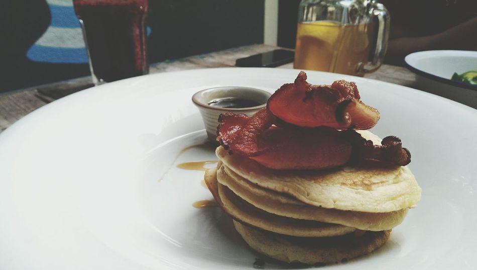 Breakfast Bacon Pan Cake