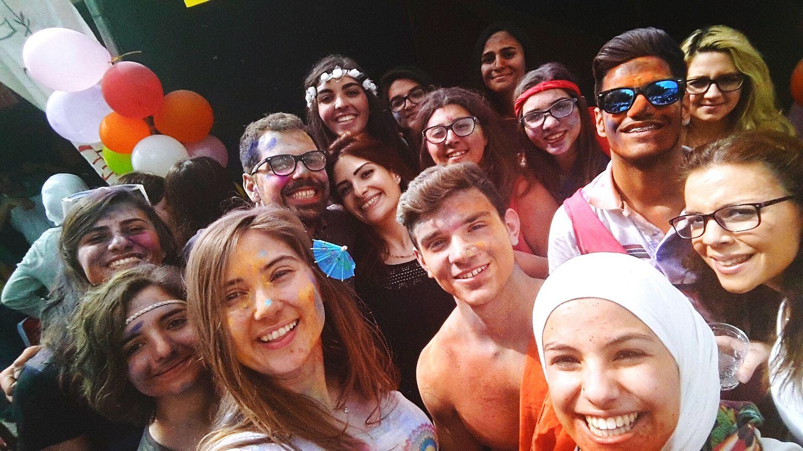 Holi Powder Colours Friends ❤ Love MUN GCLAUMUN Global Village