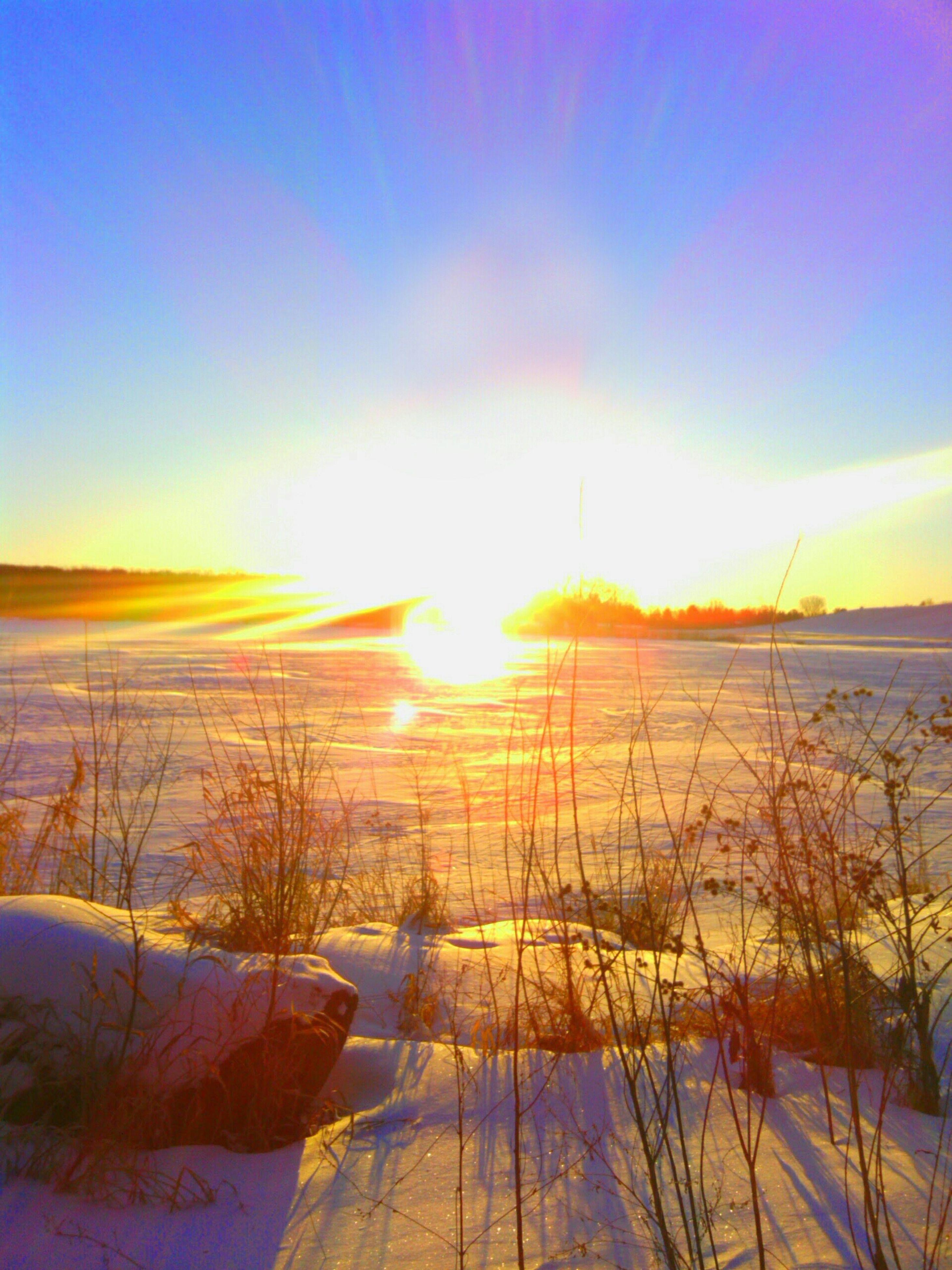 sunset, sun, tranquil scene, tranquility, scenics, beauty in nature, water, nature, sky, sunlight, idyllic, orange color, sea, reflection, horizon over water, lake, landscape, sunbeam, non-urban scene, lens flare
