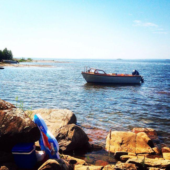 My pearl:-) Boat Lake Gasa Sweden