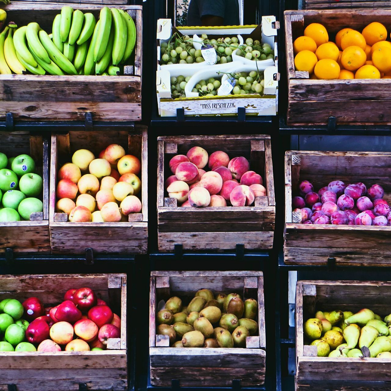 Market Multi Colored Food Vegetable Fruit Freshness Food And Drink Choice Large Group Of Objects Variation No People Box - Container EyeEmNewHere