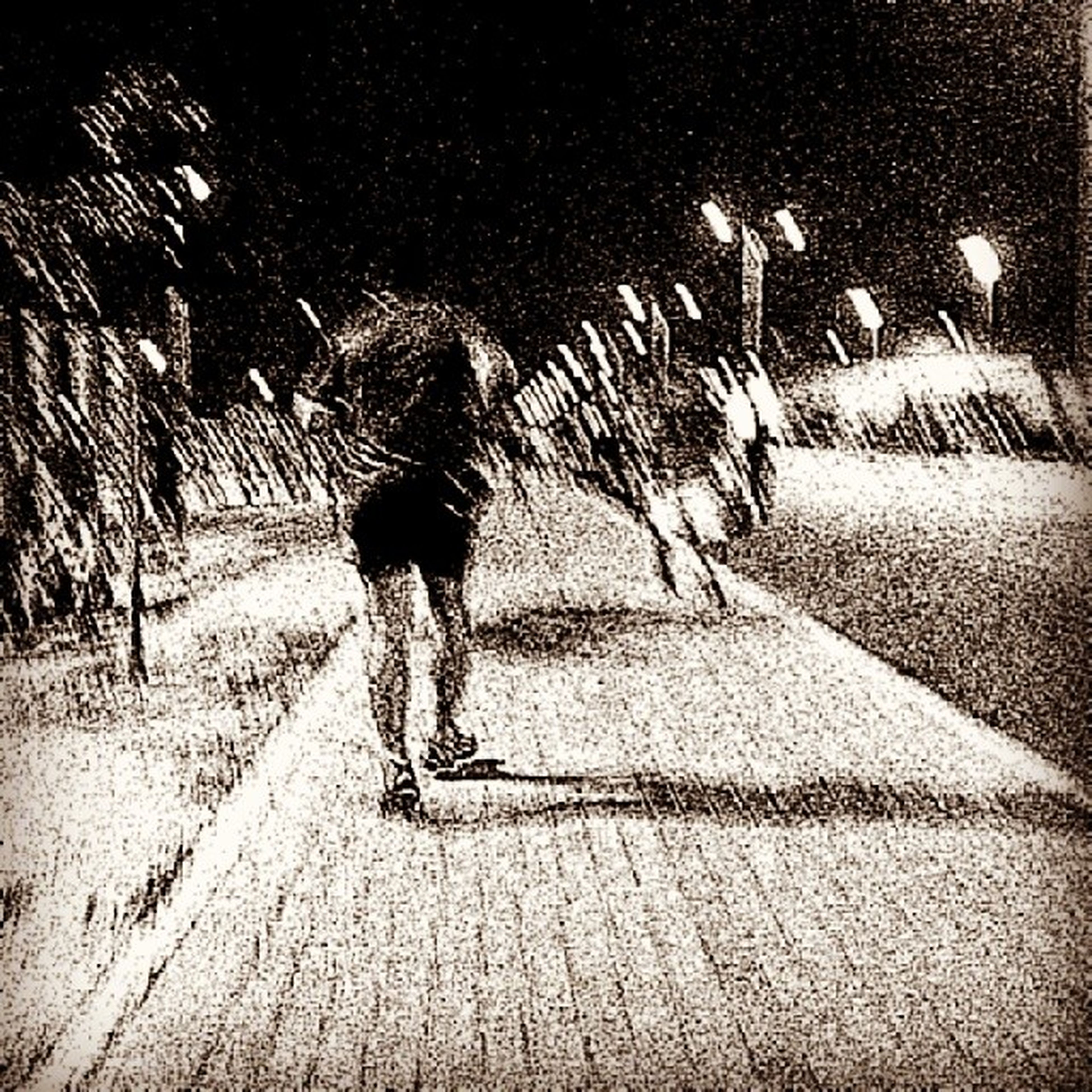 full length, lifestyles, shadow, walking, leisure activity, men, bicycle, street, night, silhouette, motion, on the move, sunlight, rear view, road, outdoors, person