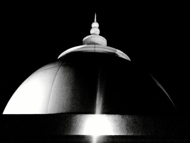 Dome of Masjid Al Fattah Jatinegara Jakarta Bnw Lowlight Rooftop View  Mosque Place Of Worship Religion Spirituality Fine Art Photography