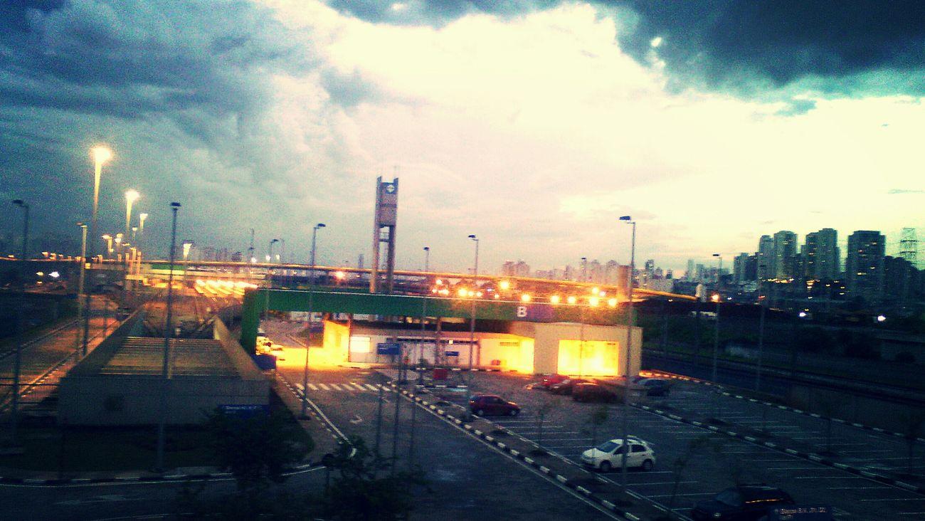 Metro Station São Paulo, Brasil Rain☔ Clouds And Sky