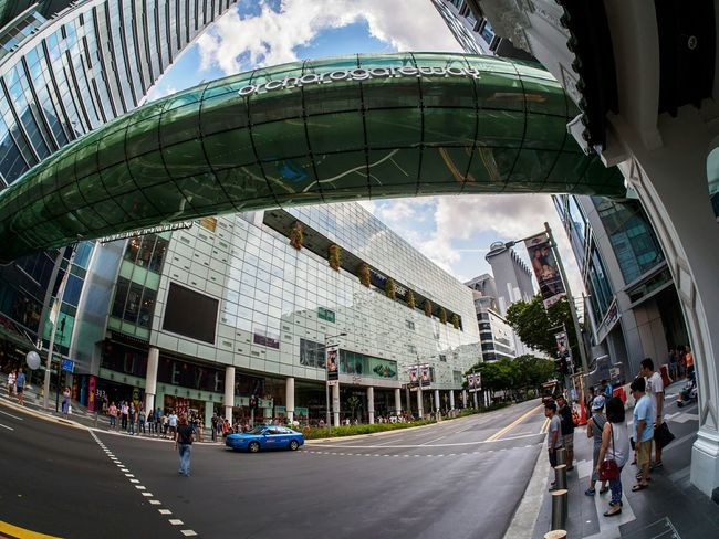 Orchard road City Life Architecture Urban Geometry Shoppingcentre Shopping Mall Fisheye Nohdr