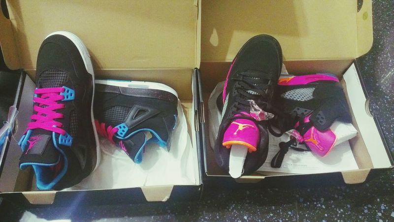 AJ New Sneakers Got AJ4&AJ5 this summer.YAY!!