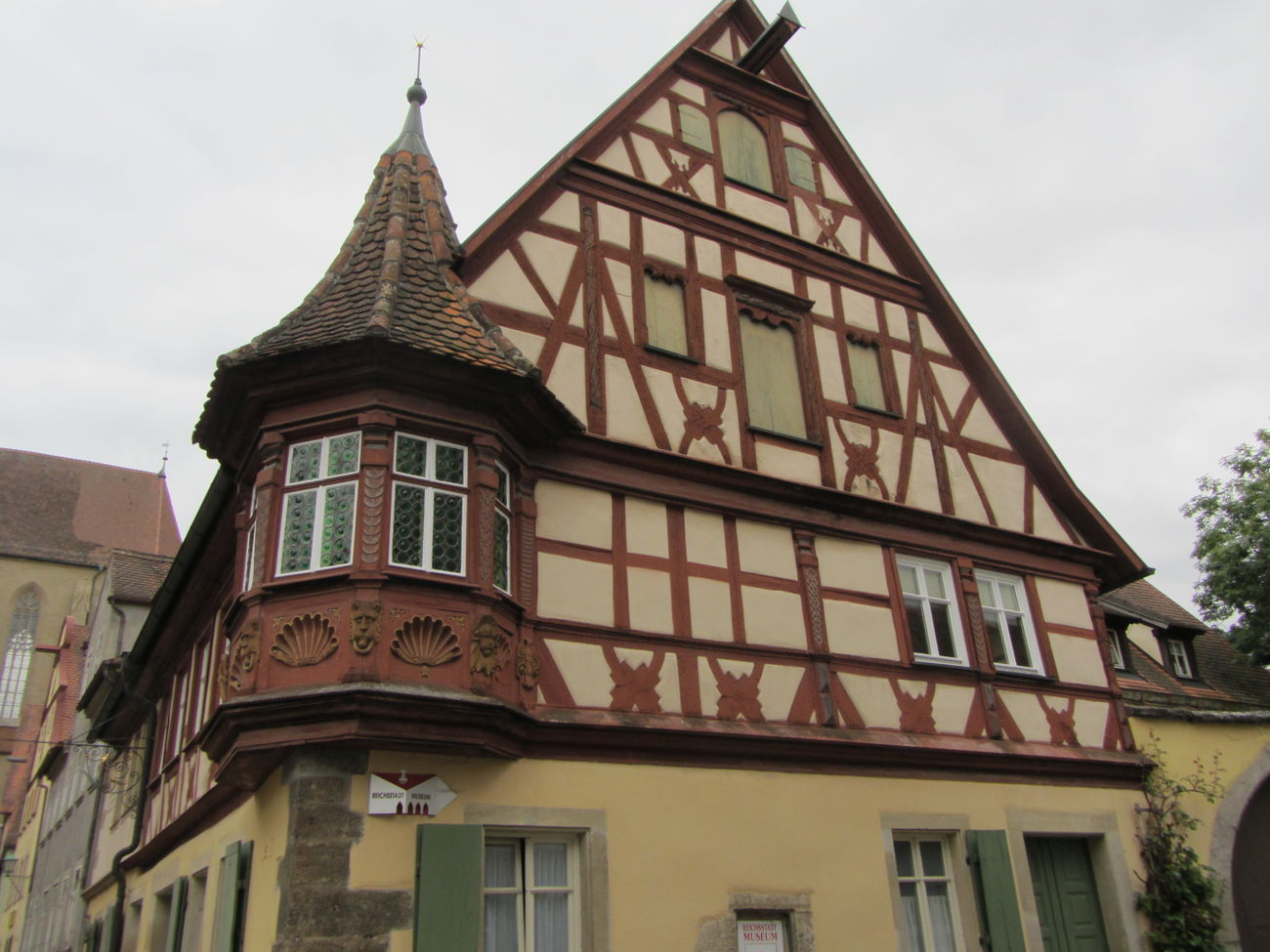 Rothenburg O. T. Fachwerkhaus Germany