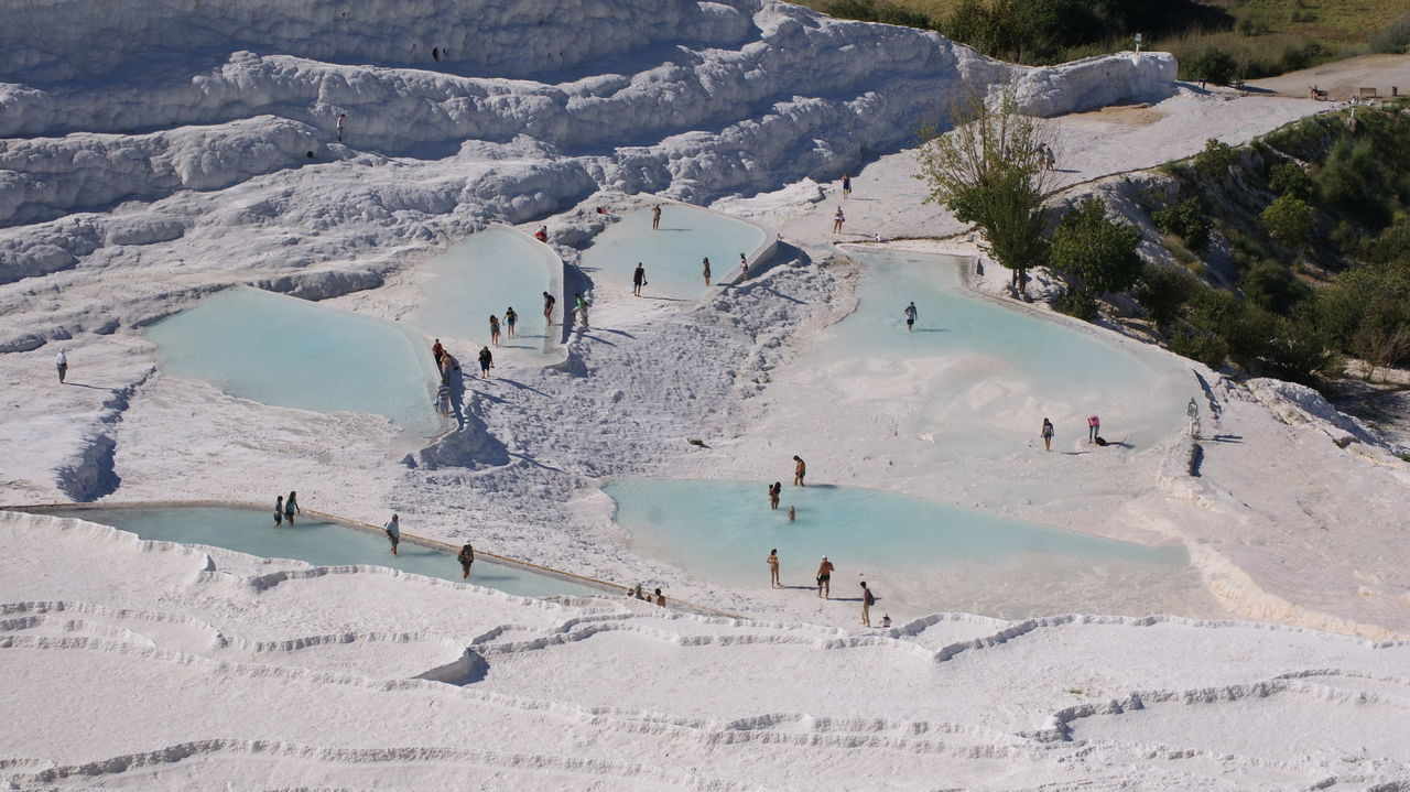 Beautiful stock photos of bath, Day, High Angle View, Hot Spring, Large Group Of People