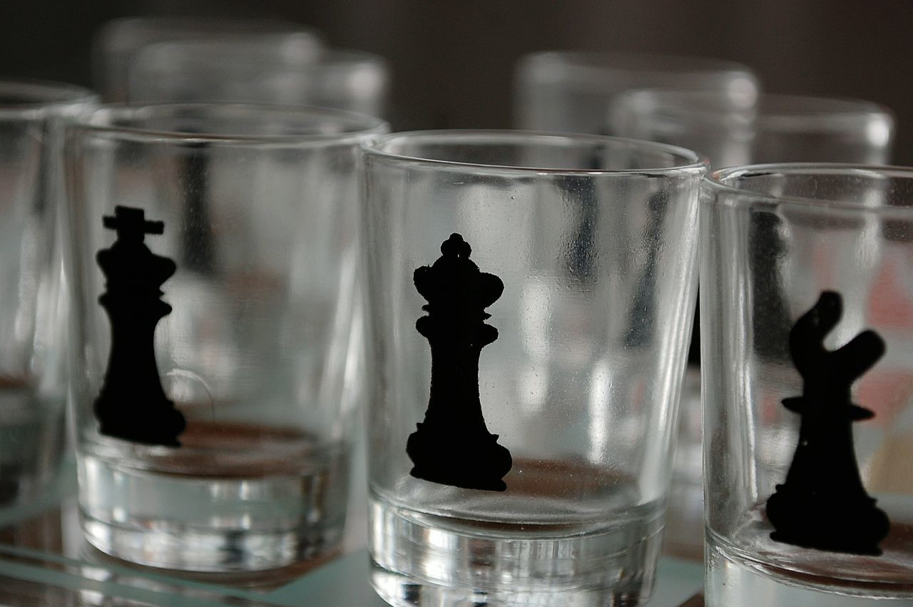 Indoors  Detail Close-up Shot Chess Chess Drink Glass Focus On Foreground Shiny Shots Showcase: February Everything In Its Place Q