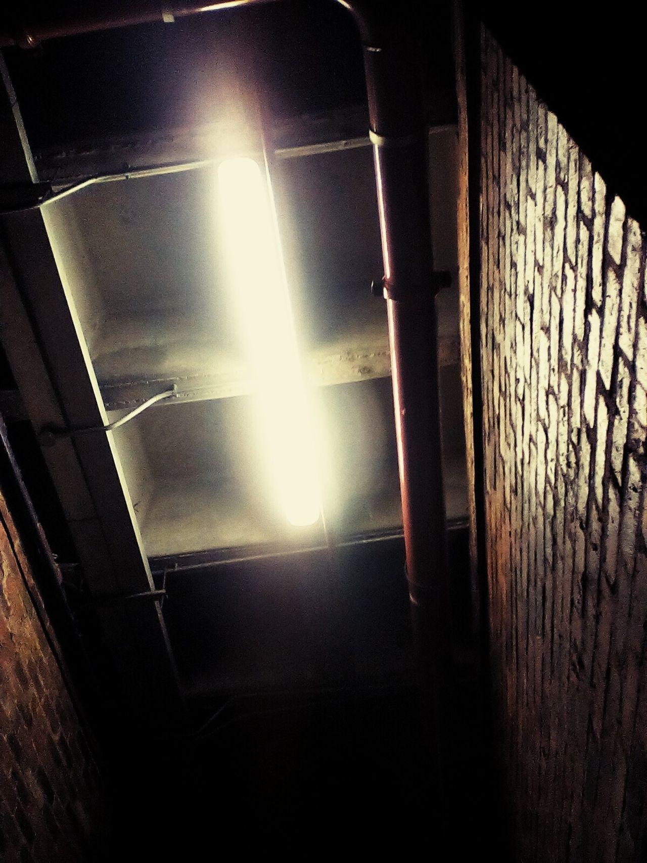 Light Flouresent Light Lightporn Brick Wall