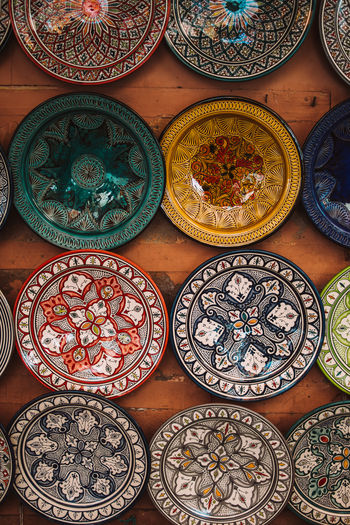 For Sale Hand Painted Market Marrakech Morocco Ornate Plates Souks
