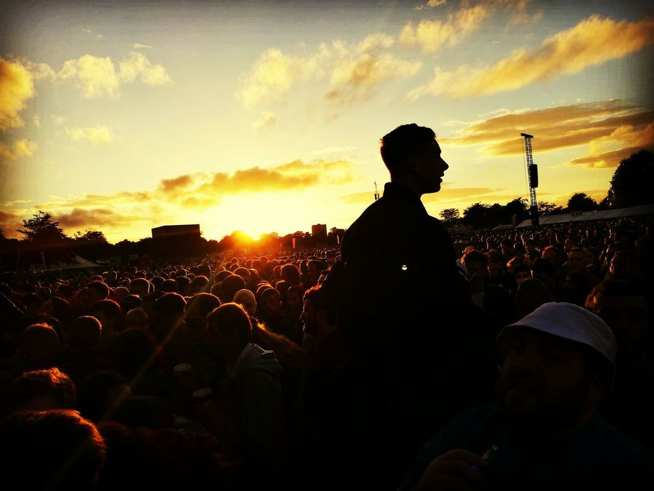 Sunset at the festival Taking Photos Check This Out Enjoying Life Hanging Out Outdoors Sunset Sunset_collection Sunset Silhouettes Music Brings Us Together a:3305] Concert Crowdshot crowd silh
