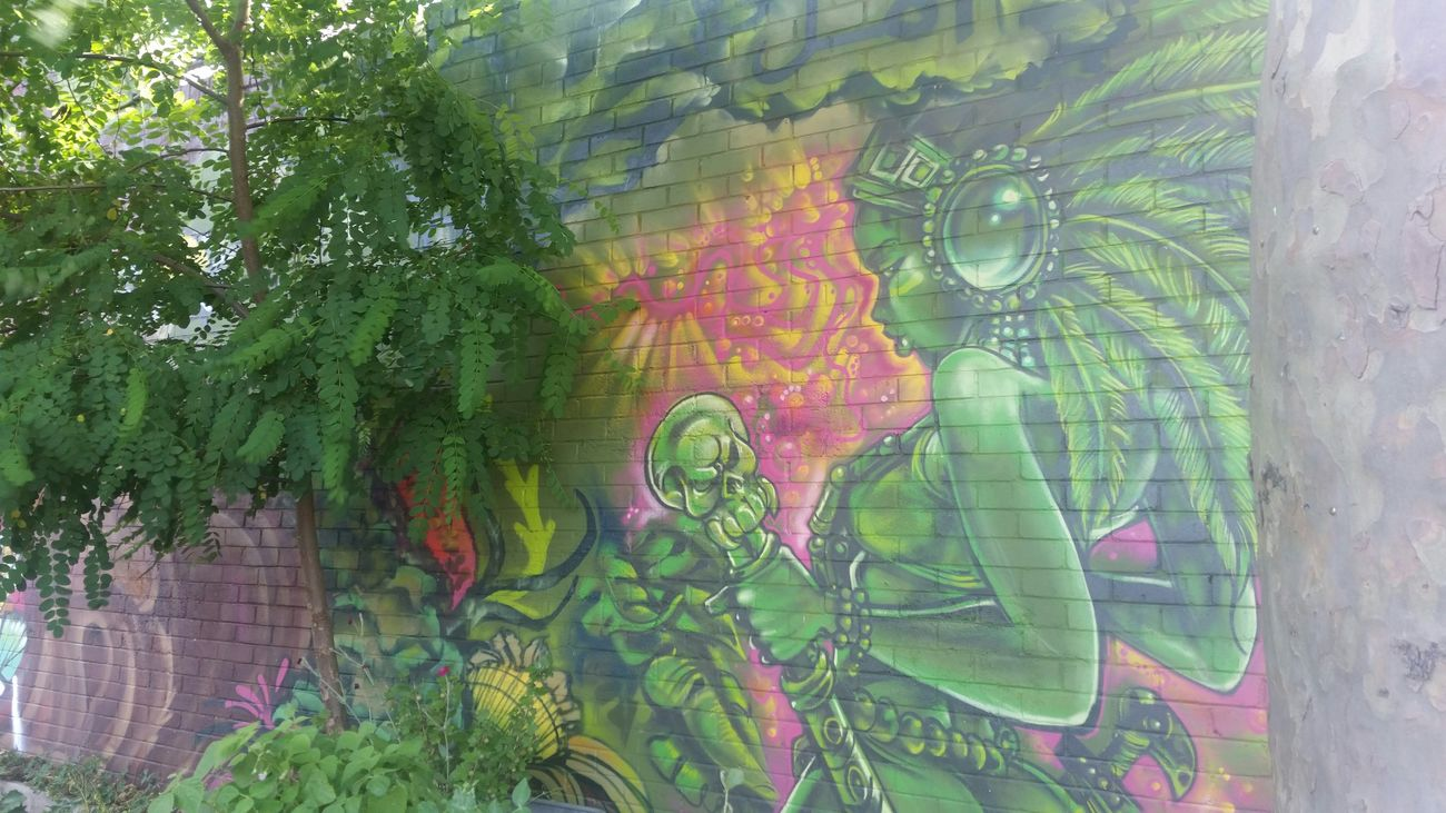 Glamazon Street Art Graffiti Community Art Making People Happy Green With Envy Skilled Blending In  Summertime Fun Taking Photos