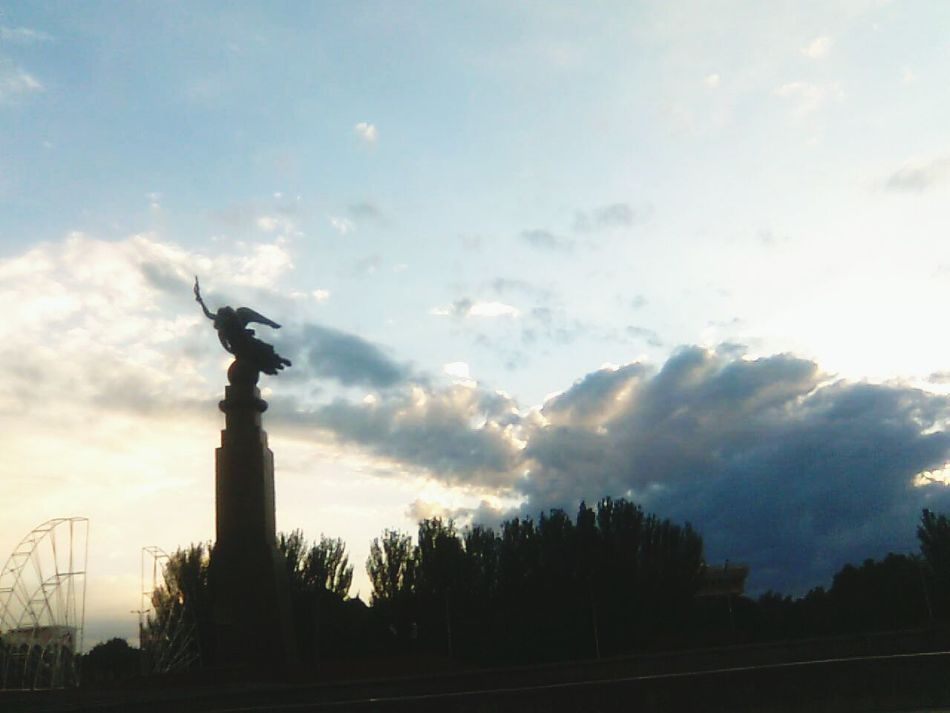 just some years ago the main square with an old monument for Peace Homesweethome Bishkek Clouds And Sky Kyrgyzstan