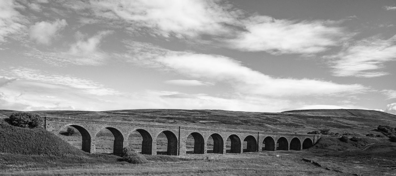 railway bridge viadukt Architecture Black And White Bridge Cloud - Sky Day History Nature No People Outdoors Railway Bridge Sky Viaduct Viadukt Yorkshire Dales