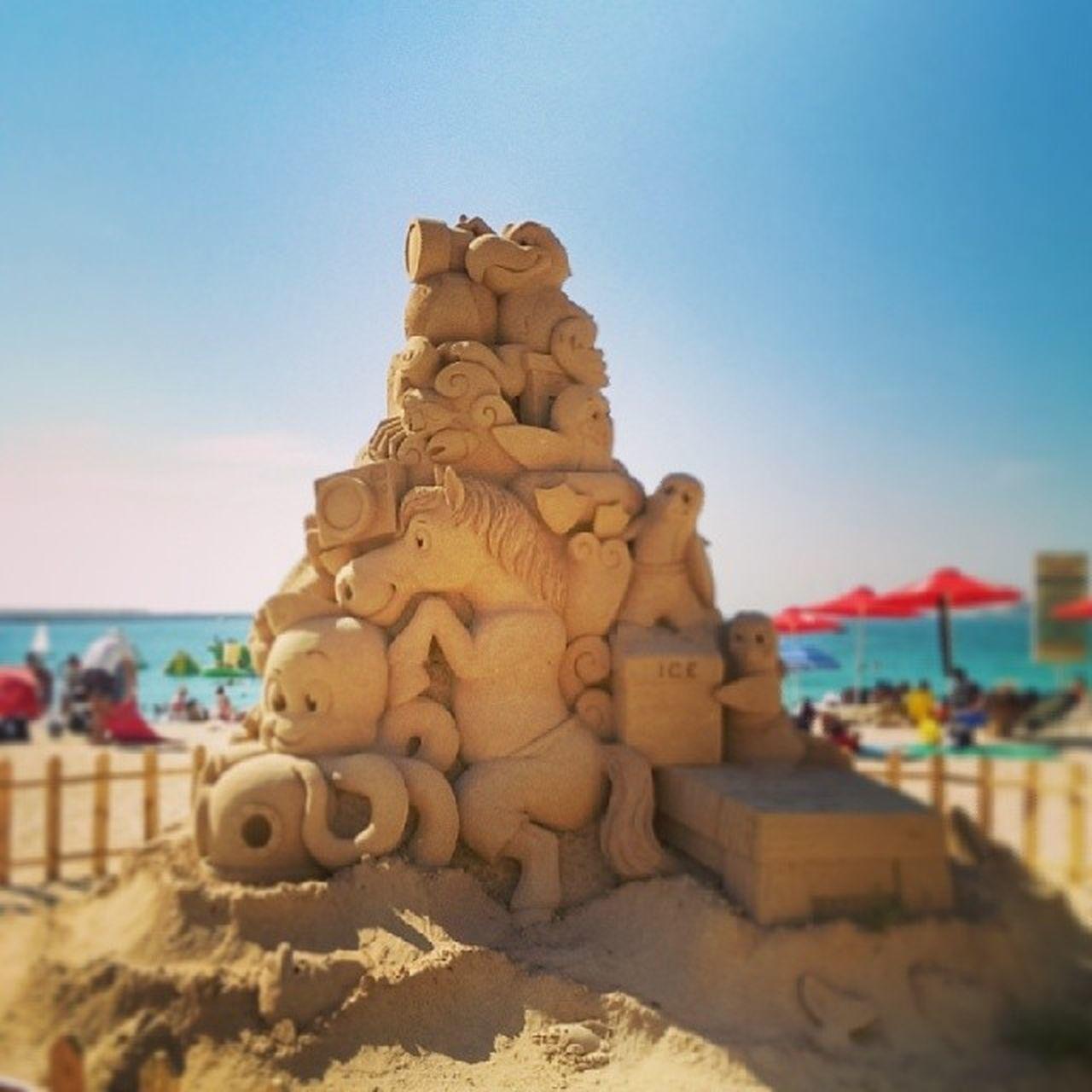 Sand sculpture in Jbr Dubai