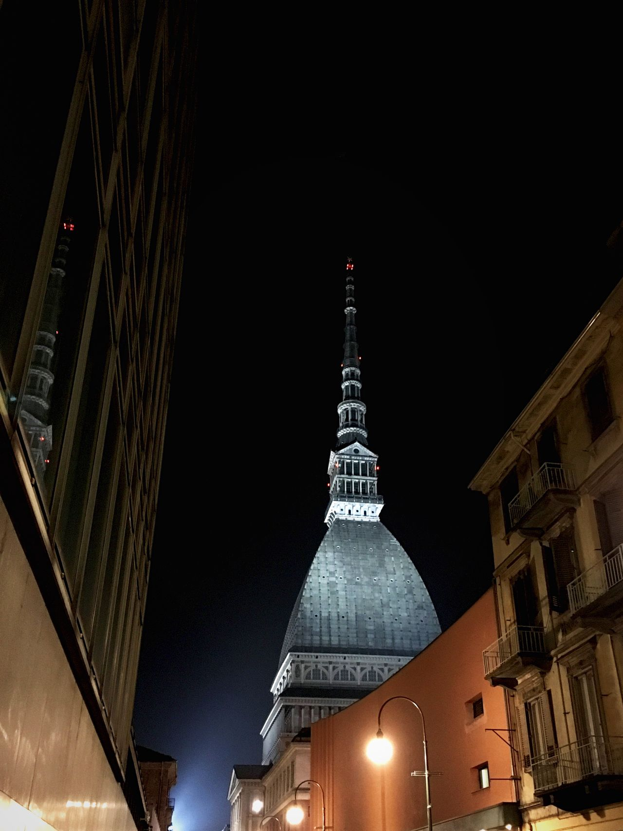 Mole Antonelliana in Turin Mole Antonelliana Moleantonelliana Turin Turin Italy Torino Italy Italia Monument Monuments Landmark Landmarks Urban Urban Landscape City Building Exterior Building Buildings Streetlights Night Night Landscape Night Lights Historical Building Historical Monuments Tower Towers