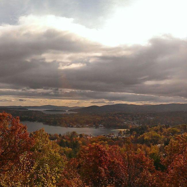 Autumn storm over Lake Winnipesaukee New Hampshire
