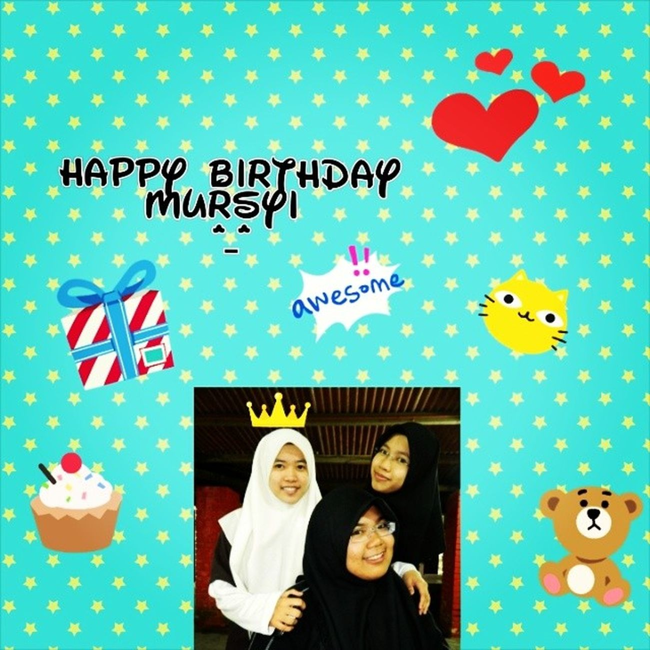 HB to one of my dearest besties, MURSYI !!!! May Allah bless and ease everything, I pray that you will always smile in your life, no tears upon your cheek, if there is any tears, I pray that Allah grant you the courage and other happiness that could wash away the tears.... Always love you <3 <3 <3 <3 <3 *Sorry mursyi, antara sume gambar ni yg senonoh sket time kat Maresmart dulu ;)