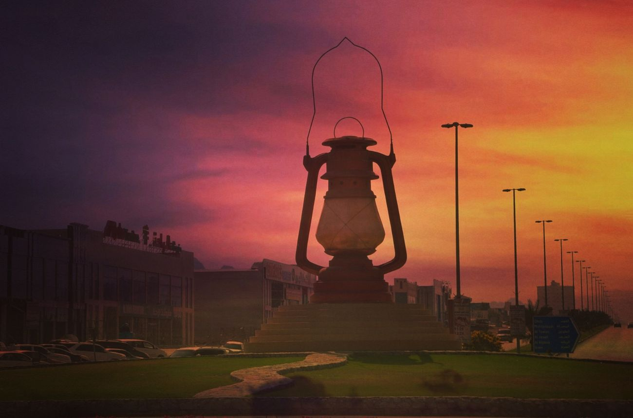 "Fujairah ""Lantern"" Roundabout First Eyeem Photo Lantern Roundabout Roundabout Art Fujairah UAE"