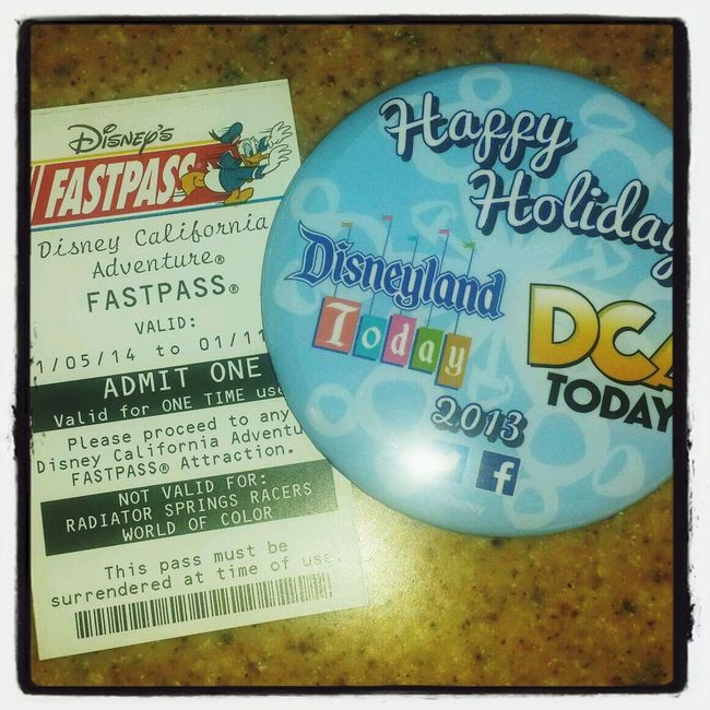 got my Holiday Chear button AND a free fast pass!