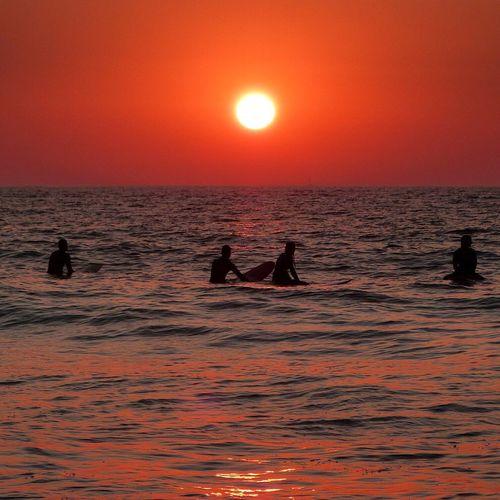 Sunset Sea Sea And Sky Sun Sunshine Sunset Silhouettes Sunset_collection Ericeira