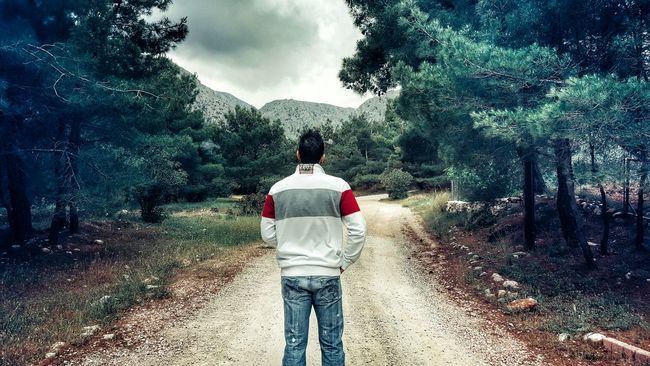 Forestwalk Man That's Me Walking Around Walk In The Woods Human Vs Nature Human Representation EyeEm Nature Lover Nature On Your Doorstep Beauty In Nature Moody Moody Sky Cloudy Day Cloudy Cloudy Skies Forest Photography Forest Nature Photography Nature_collection Human Settlement The Human Condition Him Back Where Are You Going? See What I See