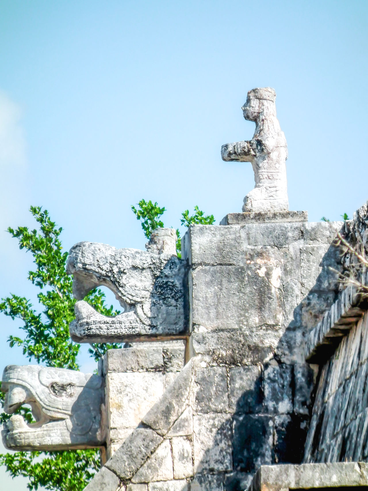 Archaeological Sites Architecture Chichen Itza High Section History Low Angle View Mayan Mayan Ruins Mayan Wonders No People Stone Stone Material Temple Of A Thousand Warriors Temple Of Warriors The Past Yucatan Mexico Yucatan Peninsula Yúcatan