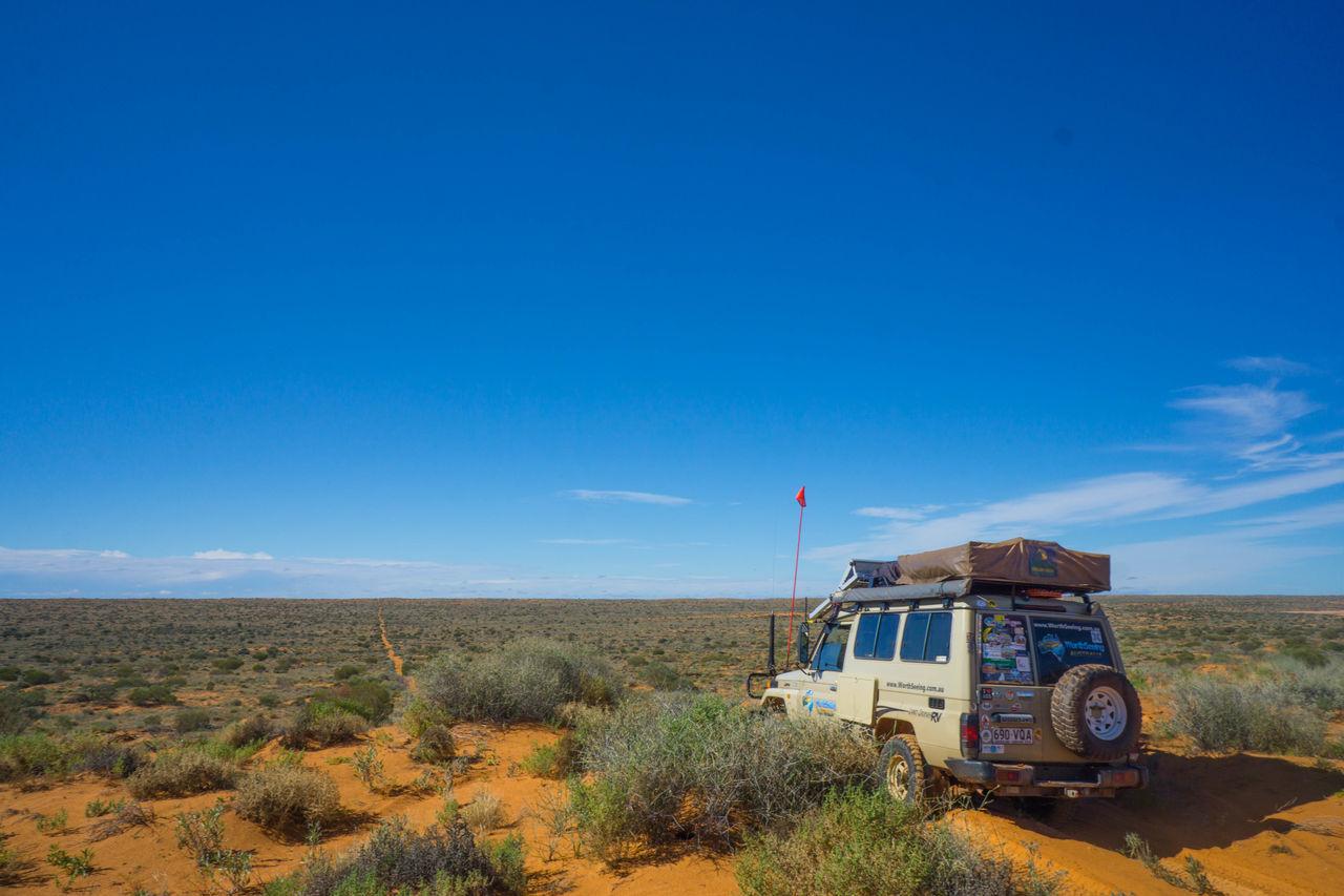 4wd Australia Blue Car Desert Nature No People Off Road Orange Outdoors Sky Transportation
