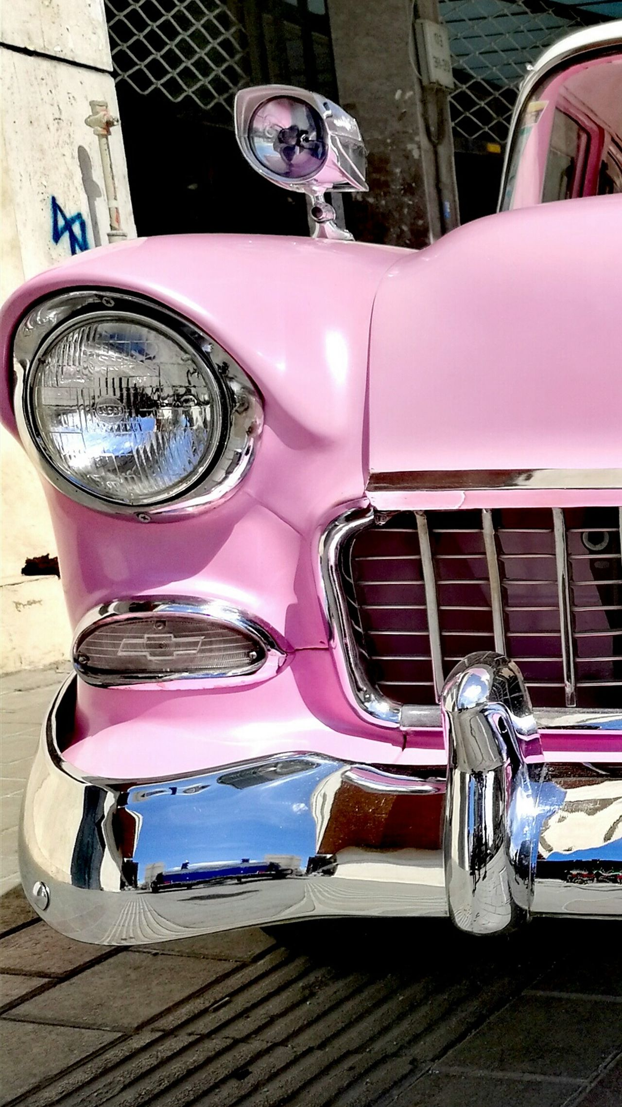 Millennial Pink Transportation Car Pink Color Mode Of Transport Land Vehicle Outdoors Old-fashioned No People Collector's Car Customized Day Streetphotography Adapted To The City Street Photography City Old Car Vehicle Mirror Luxury Transportation EyeEmNewHere Close-up Beauty City Life Happiness