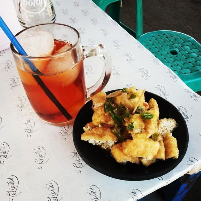 For lunch Tahugejrot Ngidam