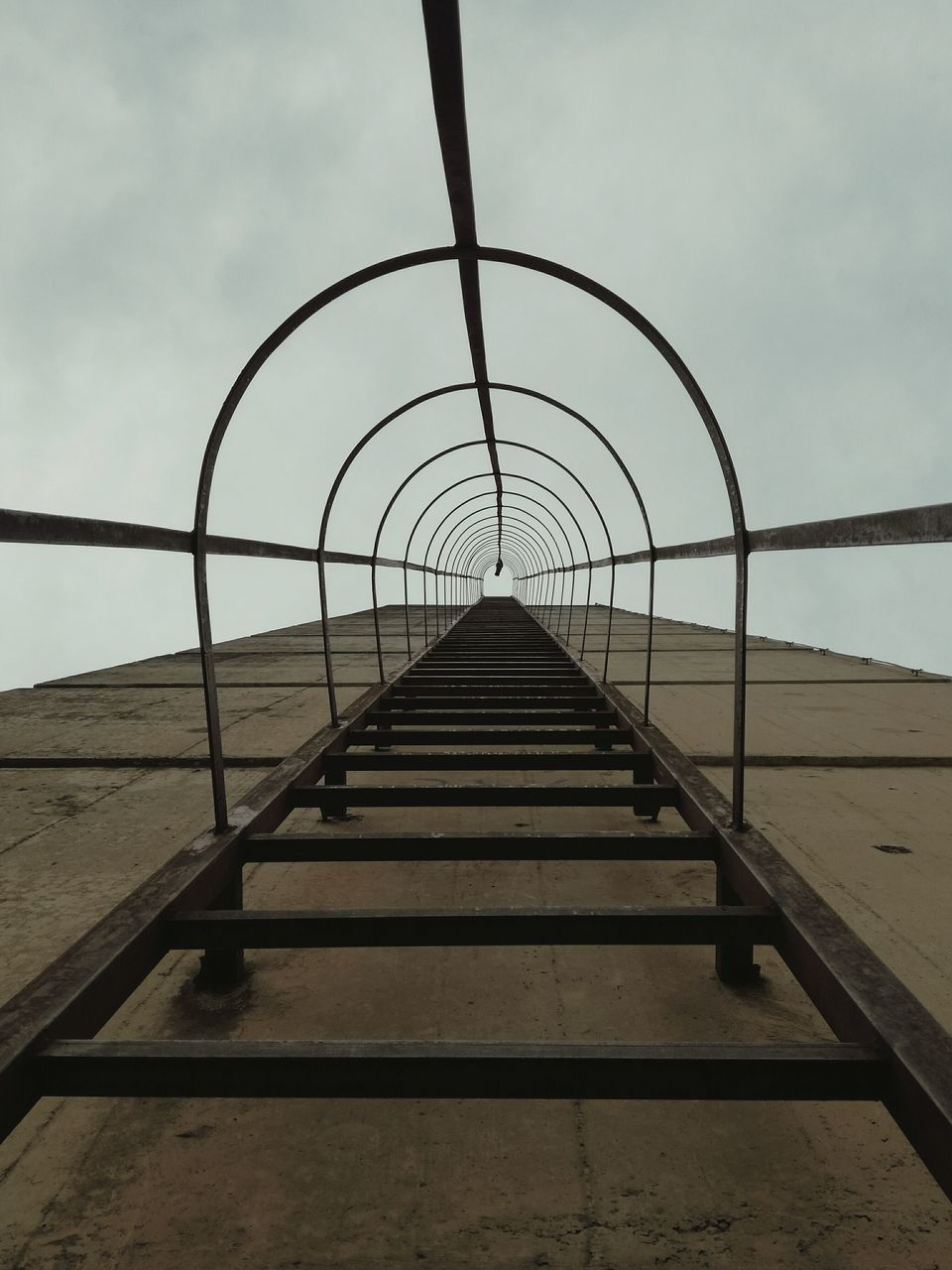 sky, the way forward, railing, outdoors, day, no people, water, sea, nature, architecture