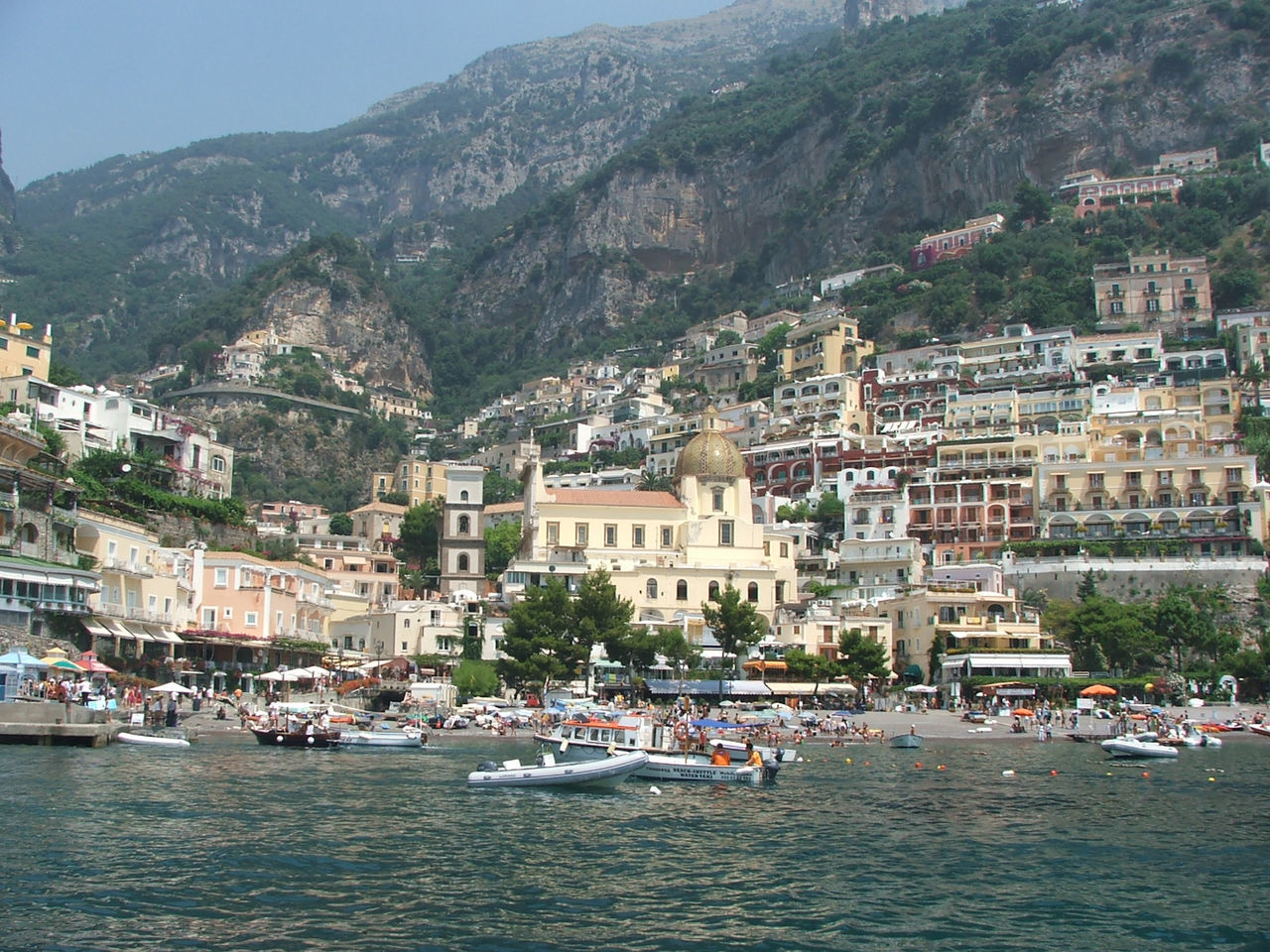 Water Travel, Rocky, Bright, Sunshine, Nature Naples, Italy Island View  Green Yellow Boat Coast Travel Destinations Horizon Over Water Island View