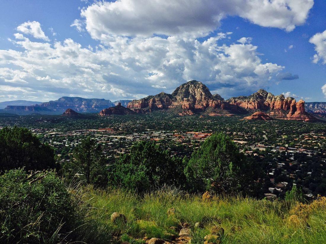 Sedona.2 Mountain Sky Cloud - Sky Nature Rock Formation Mountain Range Cloud Blue Landscape Arizona