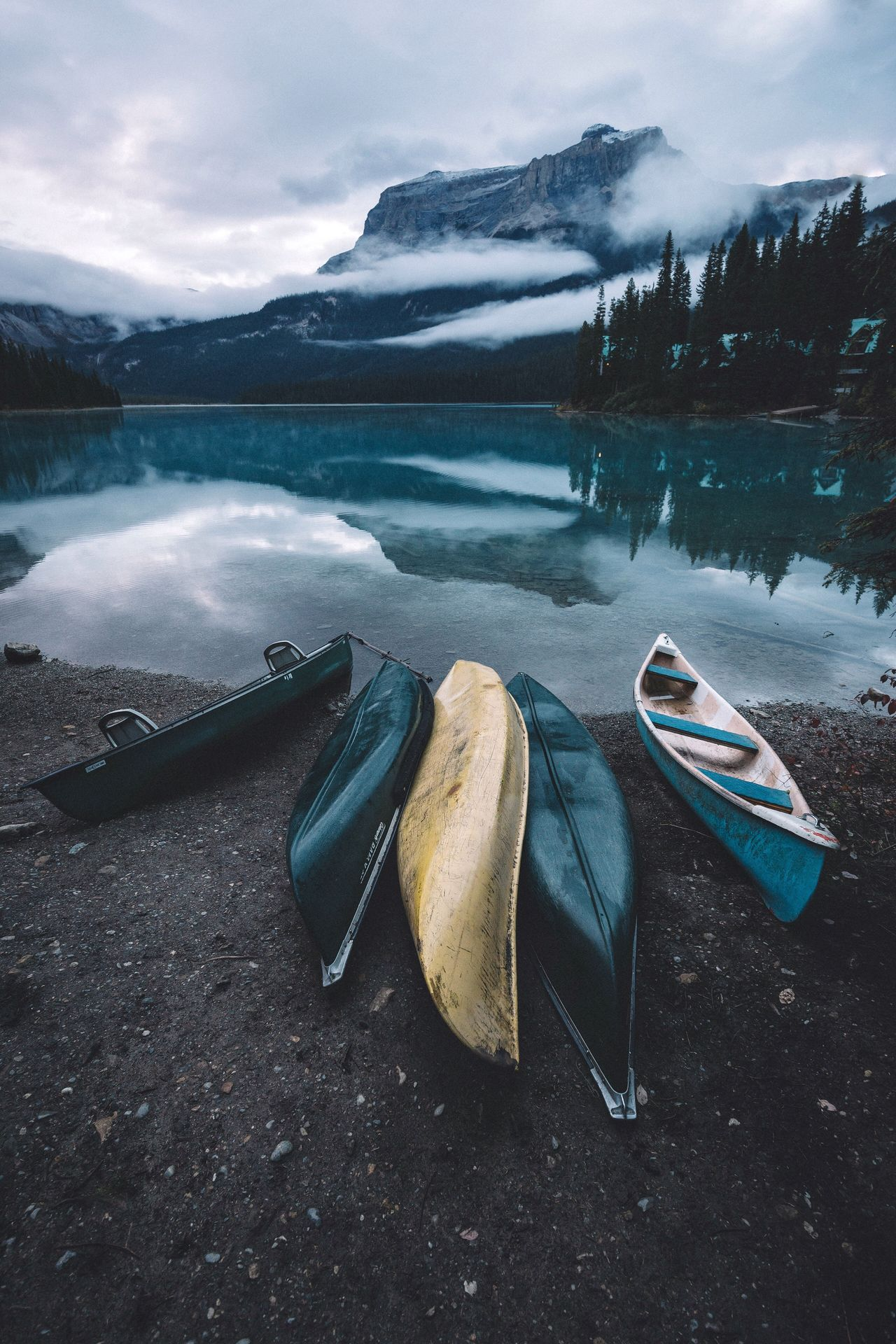 Canoeing Canada Sunrise Vscofilm Lake No People Mountain Outdoors Tranquility Nature Scenics Water Sky Nautical Vessel Beauty In Nature Day